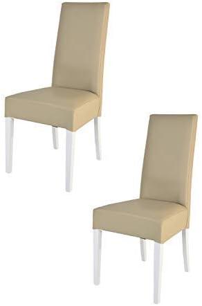avec Une Structure en Bois de h/être peindr/é Noir et Une Assise en Tissu Couleur Noir Tommychairs Set 2 chaises Modernes Chiara pour la Cuisine restaurantes et la Salle /à Manger