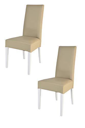 Tommychairs - Set 2 sedie Luisa per Cucina, Sala da Pranzo Eleganti ...