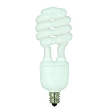 ((Pack of 6) Satco S7366, 13-Watt Candelabra Base T2 Mini Spiral, 5000K, 120V, Equivalent to 60-Watt Incandescent Lamp for Enclosed Fixtures, Compact Fluorescent Bulb)