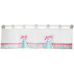 Pixie Baby Curtain Valance in Aqua by My Baby Sam, Baby & Kids Zone