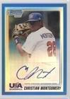 Christian Montgomery  27 99  Baseball Card  2010 Bowman Chrome   Usa Stars   Blue Refractors Autographs  Autographed   Usa Cm