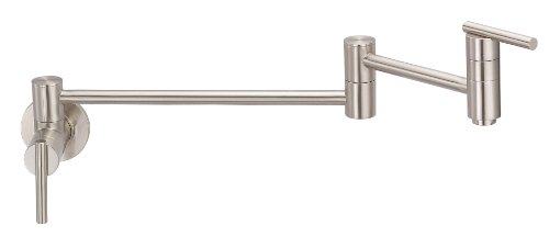 Danze D205058SS Parma Wall Mount Pot Filler, Stainless Steel