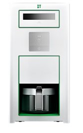 Bonaverde White Roast-Grind-Brew Coffee Machine, White with Green Accents by Bonaverde