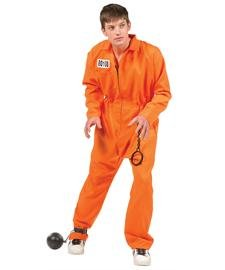 Escaped Convict Teen Costume (16-18/Orange) by RG Costumes