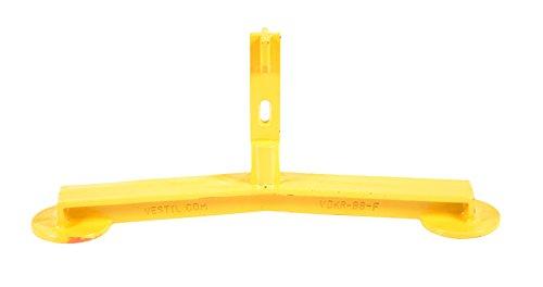 Vestil VDKR-BB-F Barricade Base with Feet for Pipe Safety Railings