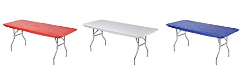 - Kwik-Covers Rectangular Fitted Plastic Table Covers, 8' x 30