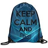 Price comparison product image SAXON13 Unisex Playful Keep Calm And Trxye Drawstring Backpack