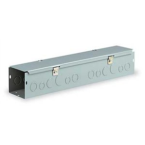 Wiegmann HS442 NEMA 1 Combination Hinge/Screw Cover Wireway with Knockouts, Steel, 4'' x 4'' x 24''