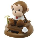 Solar Toy Bobblehead Brown Monkey Relaxing on Tropical Beach - USA SELLER FAST SHIPPING!