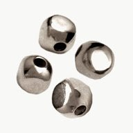 (CUBE SQUARE METAL SPACER BEADS choose 3mm 4mm 5mm (3mm=100pcs, Silver Plated))