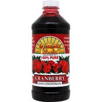 Dynamic Health 100 Percent Pure Cranberry Juice Concentrate, 16 Ounce - 3 per case.
