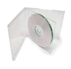 mediaxpo Brand 100 Standard Clear Double CD Jewel Case - Tray Case Jewel Clear