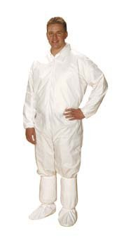 Individual VWR Critical Coverall White Zip closure elastic wrist&ankle 80080-938 (Vwr Closure)