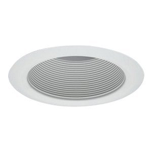 Cone White Trim - Halo 5102WB 5 Inch Tapered Full Cone Metal White Baffle Trim Self Flanged Round White
