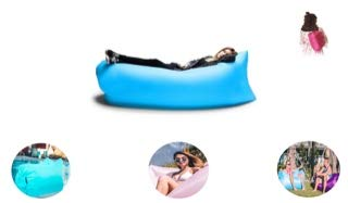 Inflatable Air Sofa, Inflatable Lounger, Inflatable Pool Lounger, Air Couch Hammock Waterproof Durable Nylon Indoor Outdoor use, Perfect for Beach, Pool, Gifts, Travel, Backyard, Lake