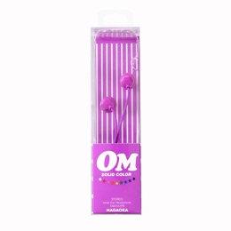 【まとめ 10セット】 NAGAOKA カナル型インナーイヤーヘッドホン Purple OM101/PR   B07KNTGM4S