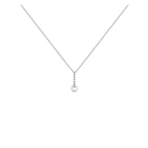 Carissima Gold - Collier Femme - Or Blanc 375/1000 (9 cts) 2.54 gr - Oxyde de zirconium - 41 cm