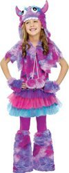 Fun World Polkadot Monster Costume, Large 12 - 14, Multicolor]()