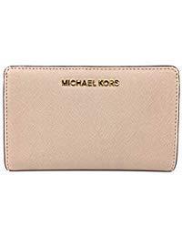 Michael Kors Jet Set Travel Saffiano Leather Slim Bifold Wallet (Ballet)