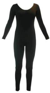 DanceNwear Nylon/lycra Footless Long-sleeve Unitard (8-10, Red)