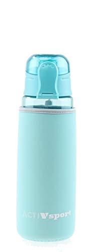 Sports Water Bottle Single Pack Turquoise - Bonus Insulating Sleeve - Eastman Tritan, BPA-Free, Leak-Proof - Secured & Locking Lid, Break-Resistant - 30oz (900mL) - by Unity (Treadmill Water Bottle)