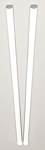 2 Pcs 3/8 Diameter x 36 INCH Long Clear Acrylic PLEXIGLASS Lucite Plastic Rod - .375