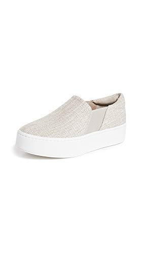 Vince Women's Warren Platform Sneakers, Natural Ecru, Off White, 10 M US