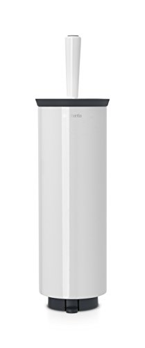 Brabantia WC Toilet Brush & Holder, Accessories for the Bathroom, Stainless Steel White, 483325
