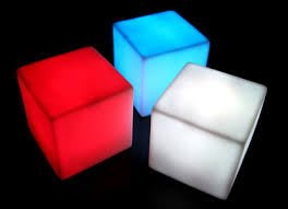Accent LED Glowing Display Cube