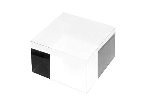 RY DISPLAY Clear Polished Acrylic Cube Acrylic Square Display Block Acrylic Jewelry Display Stand Ring Showcase Display Holder (2