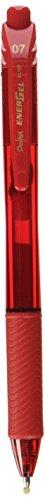Pentel EnerGel-X Retractable Liquid Gel Pen (0.7mm) Metal Tip, Red Ink, Box of 12 (BL107-B)