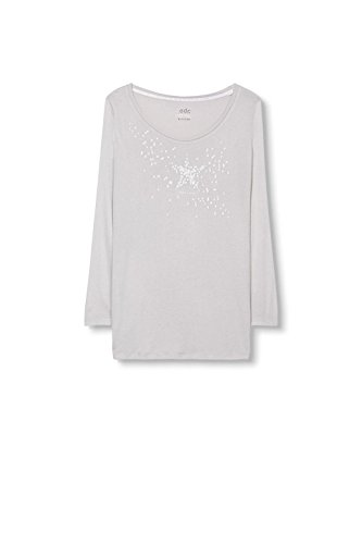 edc by Esprit 096CC1K028, Camiseta Para Mujer Gris (Light Grey 040)