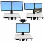 ERGOTRON Ergotron 97-607 Workfit-C Convert-to-Single Hd Kit from Dual Or LCD & Laptop