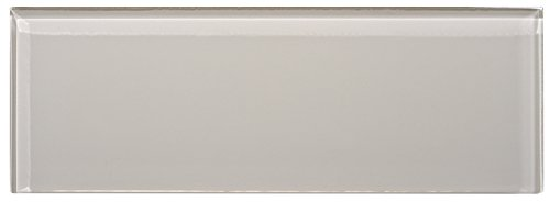 WS Tiles: 4'' x 12'' Individual Icy Gray Glass Brick, Backsplash, Tile for Kitchen & Bathroom - 4 in x 12 in x 8mm - Pack of 5 sq ft by WS Tiles