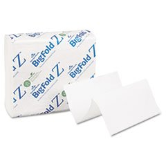 Towel Z-fold Bigfold (Georgia Pacific Professional 20885 Z C-Fold Replacement Paper Towels, 8 X 11, White, 260/pack, 10 Packs/carton)