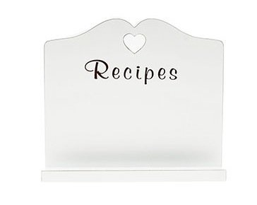 Lesser and Pavey 25 cm Heart Recipe Book Stand, White by Lesser & Pavey by Lesser & Pavey
