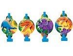Amscan Prehistoric Party Dinosaur Blowouts Favour, Plastic Supplies , 48 Pieces