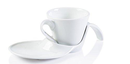 Coffee Mug Elegant Service for Cappuccino Coffee Espresso set Home and - Set Spoon Cappuccino