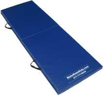 Folding Exercise Mat (Firm), 2'x4'x2'', Royal Blue