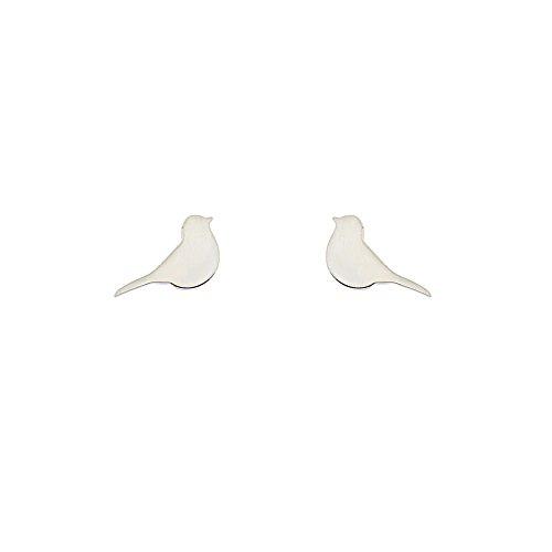 Diane Lo'ren Children's .925 Sterling Silver Stud Earrings (Bird)