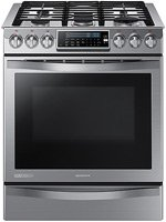 SAMSUNG NX58H9950WS Slide-In Gas Range with 5 Sealed Burners, 30-Inch, Stainless Steel by Samsung