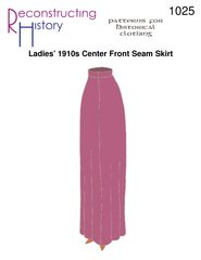 [Ladies' 1910s Center Front Seam Skirt Pattern] (1910 Costumes)