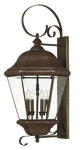 Hinkley 2406CB Clifton Park Brass Outdoor Lantern Fixture, Copper Bronze