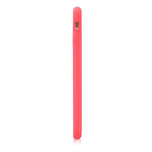 kwmobile TPU Silicone Case Compatible with Apple iPhone 6 Plus / 6S Plus - Soft Flexible Rubber Protective Cover - Neon Coral