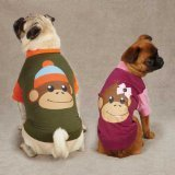 East Side Collection ZM349 20 14 Monkey Business Raglan Tee for Dogs, Large, Tiff For Sale