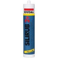 SOUDAL - Silicona neutra silirub 2+ negra