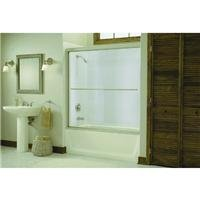 STERLING 5425-59S-G05 55-1/2-Inch H x 54-5/8-59-5/8-Inch W Bath Door Bypass with Clear Glass, - Tub Bath Glass Doors