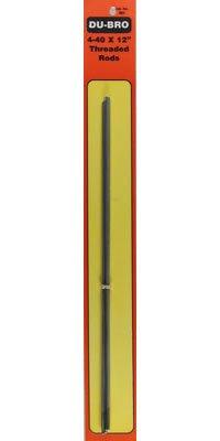 Dubro Steel Rod - DUB802 4-40x12 in Threaded Rod by Dubro