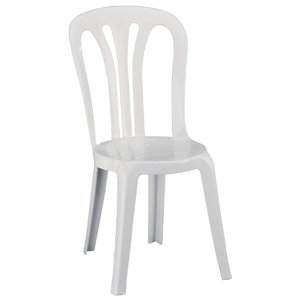 6 X Heavy Duty Multi Purpose Stacking Chairs White (Pack Of 6)   Commercial