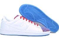 Nike Mens Tennis Klassiska Vit / Vit-harbour Blue-atom Oss 10,5 M